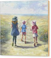 Three Sisters Beach Path Wood Print