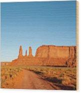 Three Sisters Mitchell Mesa, Monument Wood Print
