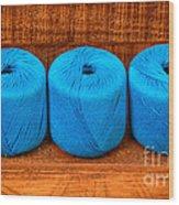 Three Skeins Of Knitting Yarn Wood Print