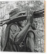 Three Soldiers In Vietnam Wood Print by Cora Wandel