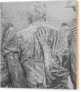 Three Soldiers Wood Print