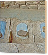Three Stones For Grinding Corn In Spruce Tree House In Mesa Verde National Park-colorado Wood Print