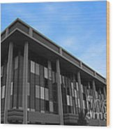 Three Story Selective Color Building Wood Print
