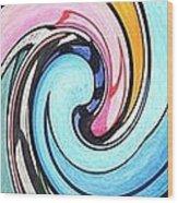 Three Swirls Wood Print by Helena Tiainen