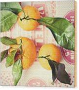 Three Tangerines Wood Print