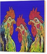Three Tenors Wood Print