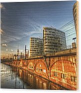 Three Towers Berlin Wood Print