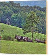 Three Trucks Wood Print