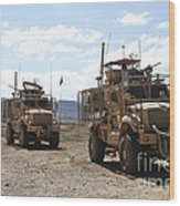 Three U.s. Army Mine Resistant Ambush Wood Print