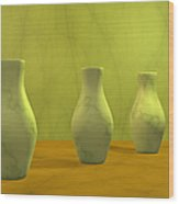 Three Vases II Wood Print