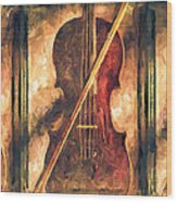 Three Violins Wood Print