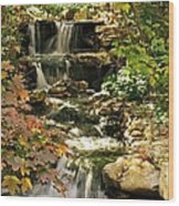 Three Water Falls Wood Print