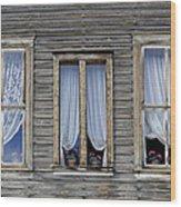 Three Windows Wood Print