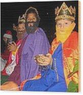 Three Wise Men On Float Christmas Parade Eloy Arizona 2005 Wood Print