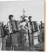 Three Young Accordion Players Wood Print