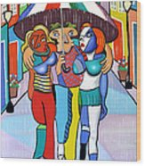 Threes A Crowd By Anthony Falbo                                          Wood Print by Anthony Falbo