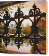 Through Bank Rock Bridge Wood Print