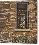 Through Doors And Windows - Abandoned House Wood Print