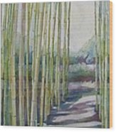 Through The Bamboo Grove Wood Print