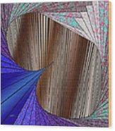 Through The Curtain Wood Print