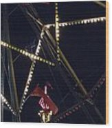 Through The Ferris Wheel Wood Print