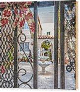 Through The Gate Wood Print