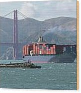 Through The Golden Gate Wood Print