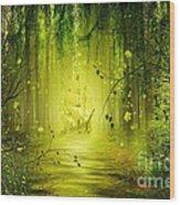 Through The Jungle Wood Print