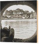 Through The Porthole Wood Print