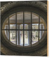 Through The Round Window Wood Print