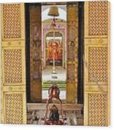 Through The Temple Doors India Wood Print