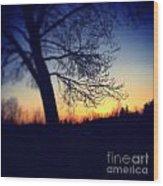 Through The Tree Wood Print