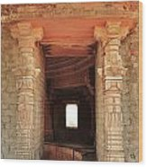 When Windows Become Art - Jain Temple - Amarkantak India Wood Print