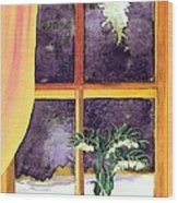 Through The Window Wood Print by Patricia Griffin Brett