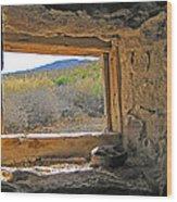 Through The Window Wood Print