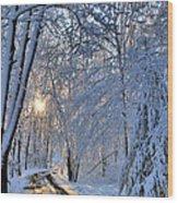Through The Woods Wood Print by Kristin Elmquist