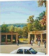 Thru Roddick Gates Your Future Awaits Mcgill University Paintings Montreal Art Carole Spandau Wood Print