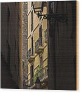 Thru The Narrow Alley Wood Print
