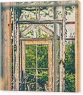 Thru Times Window Wood Print