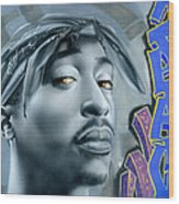 Thug Life Wood Print by Luis  Navarro