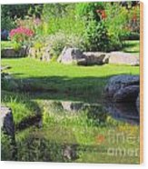 Thula Garden's Water Reflections Wood Print