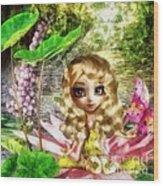 Thumbelina Wood Print by Mo T