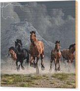 Thunder On The Plains Wood Print by Daniel Eskridge