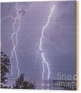Thunderation Wood Print