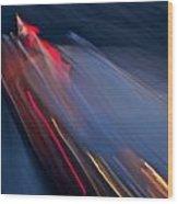 Thunderbird At Night Wood Print by Steven Lapkin