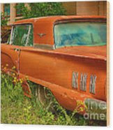 Thunderbird Rusting In Peace Wood Print