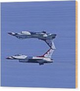 Thunderbird Solos 5 Inverted Over 6 Wood Print