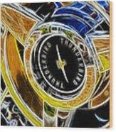 Thunderbird Spokes Fractal Wood Print