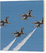 Thunderbirds Diamond Flyover Wood Print