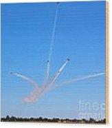 Thunderbirds Divided Wood Print